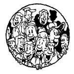 Disegno gruppo  felice